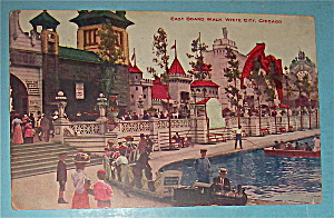 East Board Walk In White City, Chicago Postcard
