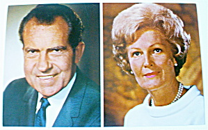 President Richard Nixon And Mrs. Nixon Postcard