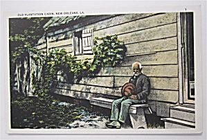 Old Plantation Cabin Postcard