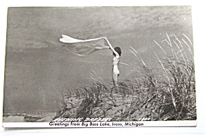 Evening Breezes, Big Bass Lake, Michigan Postcard
