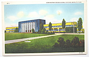 Administration Building, Chicago World's Fair Postcard