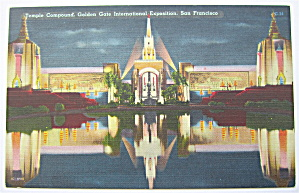 Temple Compound, Golden Gate Expo Postcard