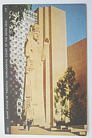 Giant Statue Of Pacifica, Golden Gate Expo Postcard