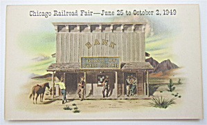 Chicago Railroad Fair June 25-october 2, 1949 Postcard