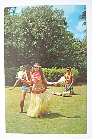 Tahitian Dancer Postcard