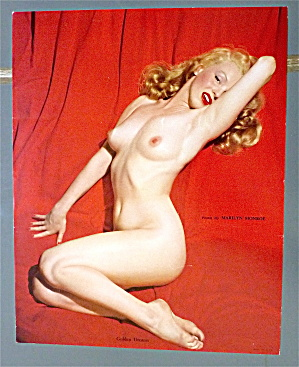 Marilyn Monroe Pin Up 1950's Golden Dreams