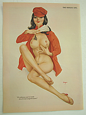 Alberto Vargas-pin Up Girl-june 1973-woman With Fan