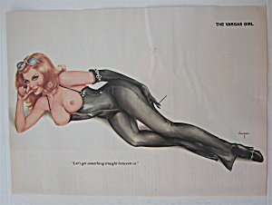 Alberto Vargas-pin Up Girl-january 1976-woman In Black