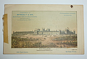 1876 International Exhibition Mc Neely & Co Trade Card