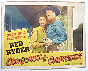 Conquest Of Cheyenne Lobby Card 1940's Red Ryder