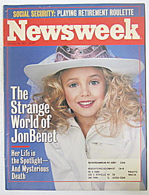 Newsweek Magazine January 20, 1997 Jon Benet Ramsey
