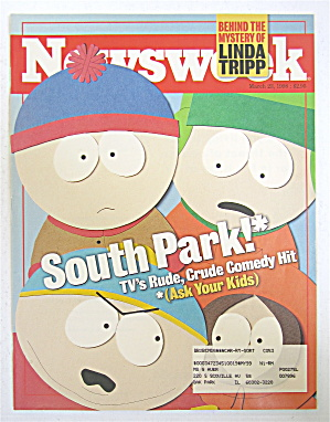 Newsweek Magazine March 23, 1998 South Park