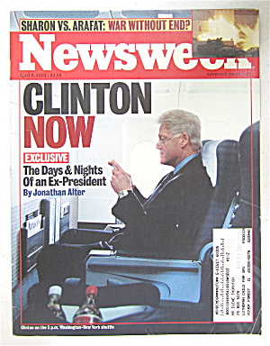 Newsweek Magazine April 8, 2002 Clinton Now