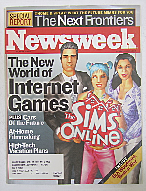 Newsweek Magazine November 25, 2002 Internet Games