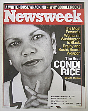 Newsweek Magazine December 16, 2002 Condi Rice