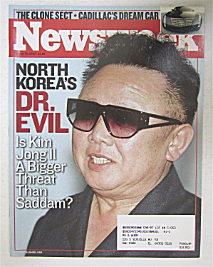 Newsweek Magazine January 13, 2003 Dr. Evil