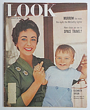 Look Magazine August 24, 1954 Hollywood Mothers