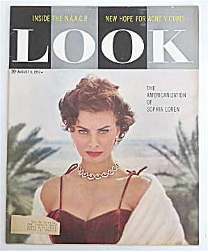 Look Magazine August 6, 1957 Sophia Loren