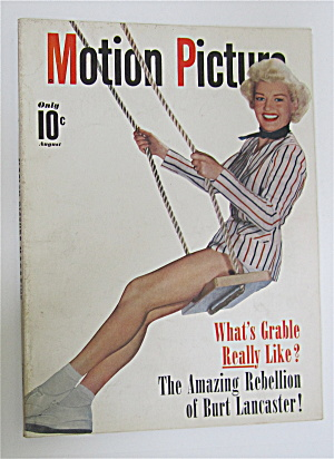 Motion Picture Magazine August 1950 Betty Grable