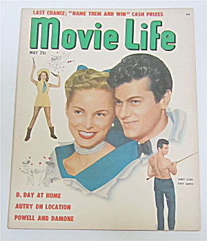Movie Life Magazine May 1951 Janet Leigh & Tony Curtis