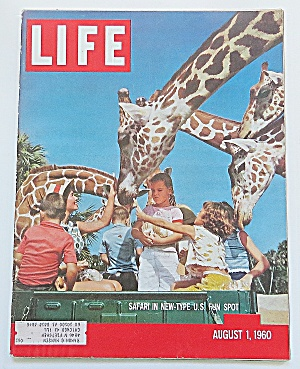 Life Magazine August 1, 1960 Safari