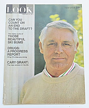 Look Magazine February 23, 1971 Cary Grant