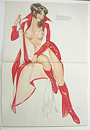 Alberto Vargas Pin Up Girl March 1970 Woman In Red