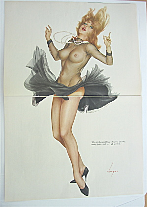 Alberto Vargas Pin Up Girl September 1966 Lady In Black