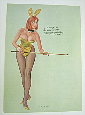 Don Lewis Pin Up Girl September 1966 Playboy Bunny