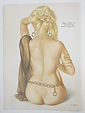 Alberto Vargas Pin Up Girl May 1969 Lady & Her Back