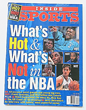 Inside Sports December 1993 What's Hot & Not