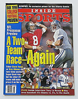 Inside Sports August 1996 Two Team Race Again