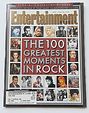 Entertainment May 28, 1999 100 Great Moments In Rock