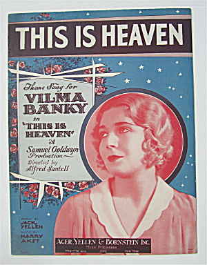 Sheet Music 1929 This Is Heaven