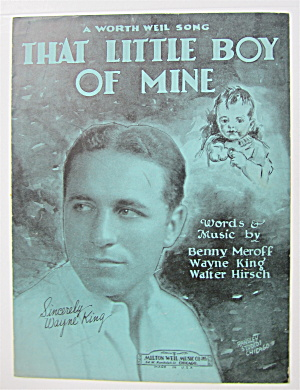 Sheet Music 1929 That Little Boy Of Mine
