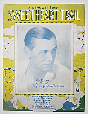 Sheet Music 1930 Sweetheart Trail