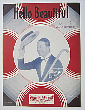 Sheet Music 1931 Hello Beautiful