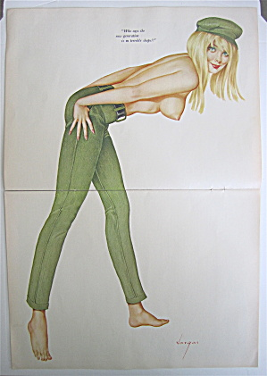 Alberto Vargas Pin Up Girl April 1967 New Generation