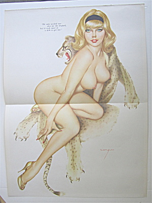Alberto Vargas Pin Up Girl January 1966 Leopard