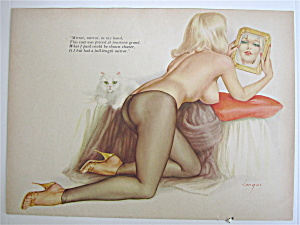 Alberto Vargas Pin Up Girl June 1964 Mirror Mirror