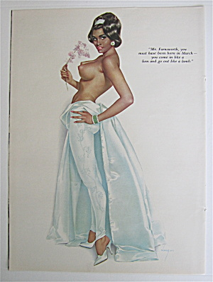 Alberto Vargas Pin Up Girl March 1964 Mr Farnsworth