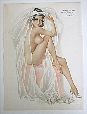 Alberto Vargas Pin Up Girl June 1965 The Bride