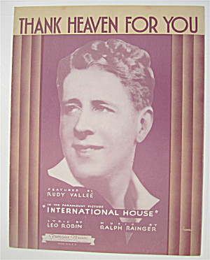 Sheet Music 1933 Thank Heaven For You