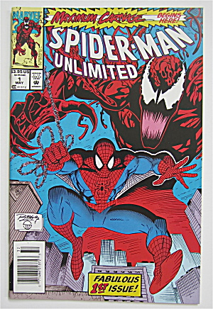Spider Man Unlimited Comic May 1993 Carnage Rising