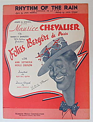 Sheet Music For 1935 Rhythm Of The Rain
