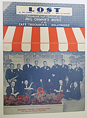 Sheet Music For 1936 Lost