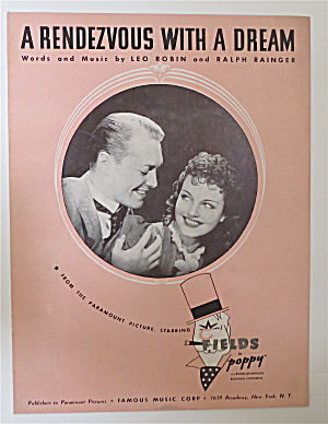 Sheet Music For 1936 A Rendezvous With A Dream