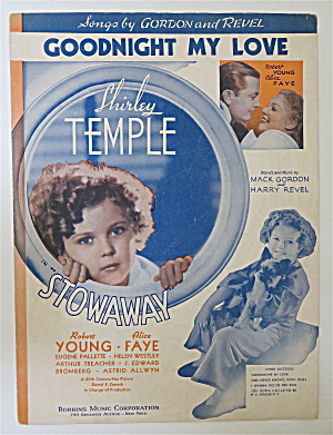 Sheet Music 1936 Good Night My Love