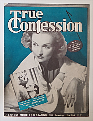 Sheet Music For 1937 True Confession