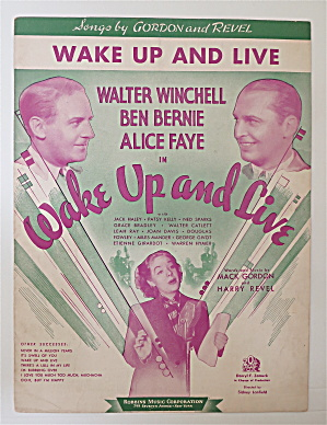 Sheet Music For 1937 Wake Up And Live